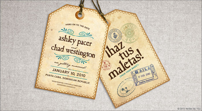 Luggage Tag Save the Dates - Serendipity Beyond Design
